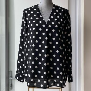 BNWT - Banana Republic Polka Dot Blouse